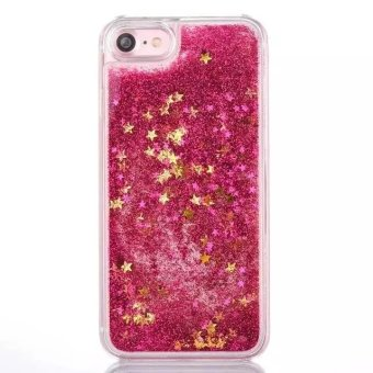 Harga Moonmini Case for iPhone 7 Plus Stars Sands Liquid Floating Hard PC Case - Hot Pink - intl