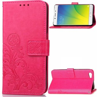 Harga Moonmini Case for Oppo R9s Plus Case Wallet Stand Leather Case Flip Cover - Hot Pink - intl