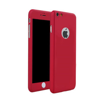 Harga TKOOFN 360° Full Hybrid Tempered Glass+Acrylic Hard Case Cover For iPhone 6 Plus/6s Plus(Red) - intl