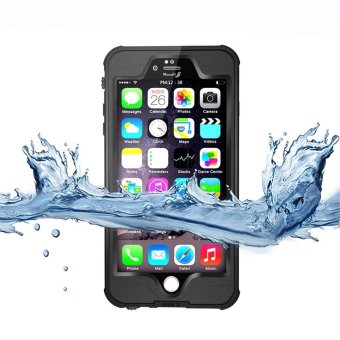 Harga Redpepper TPU Waterproof Case Cover for iPhone 6s Plus / 6 Plus (Black)