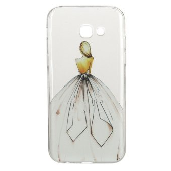 Harga Back girl TPU Soft Gasbag Back Case Cover For Samsung Galaxy A5 (2017) A520 Case - intl