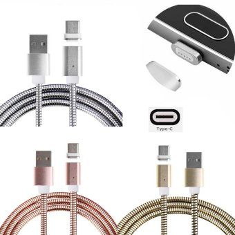 Harga Metal USB Type-C Magnetic Charger Adapter Data Charging Cable For Android Phone(Gold) - intl