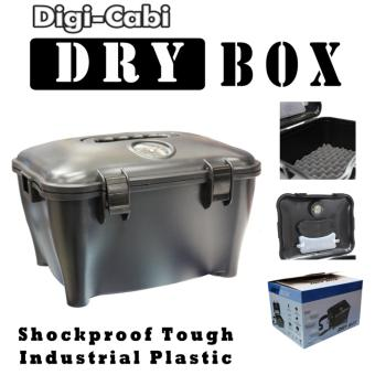 Harga 10L Portable DIGI CABI DRY BOX with Silica Gel Pack and Humidity Meter For DSLR