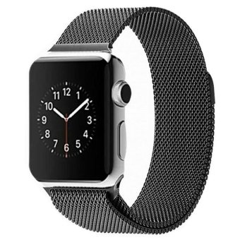Harga Milanese Magnetic Loop Stainless Steel Strap Watch Band For Apple Watch iWatch 42mm(Export)