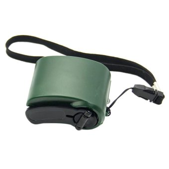 Harga Cell Phone Emergency Charger USB Crank Hand Manual Dynamo For MP4 Mobile PDA Green - intl
