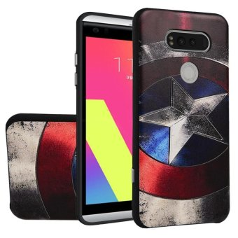 Soft TPU Case For LG V20 Captain 3D Embossed Painting Series Protective Cover - intl
