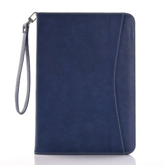 Harga Moonmini Case for iPad Pro 9.7 inch Stand Card Slots Leather Flip Case Wallet Cover - Dark Blue - intl