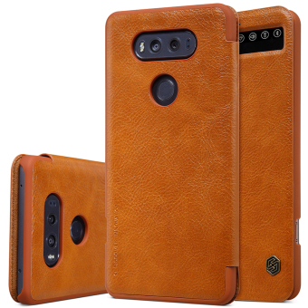Harga Original Case For smartphone LG V20 Nillkin luxury flip cover Ultra Thin Design leather Case 360 degree protection for LG V20 (Brown) - intl