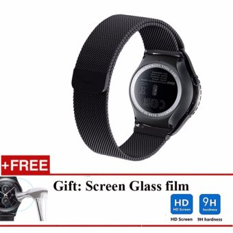 ... Milanese Loop Stainless Steel Wrist Watch Band for Samsung Gear S2 Classic Strap Black