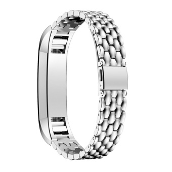 Harga Stainless Steel Watch Band Wrist strap For Fitbit Alta HR Smart Watch Silver - intl