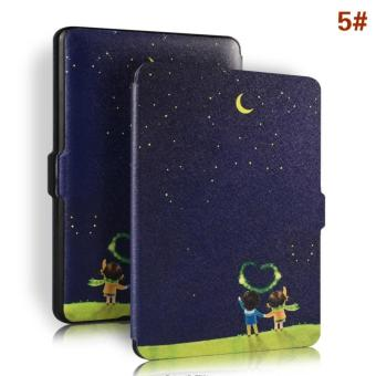 Harga Ultra Slim Premium Protective Shell Leather Cover for Kindle Paperwhite 1,2,3(5#) - intl