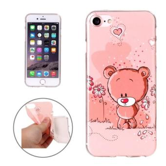 Harga For IPhone 7 Little Bear Pattern Soft TPU Protective Case Back Cover Shell - intl