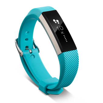 VAKIND Luxury Silicone Strap Buckle for Fitbit Alta Twill Strap (Sky Blue) - 3