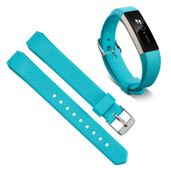 VAKIND Luxury Silicone Strap Buckle for Fitbit Alta Twill Strap (Sky Blue) - 2