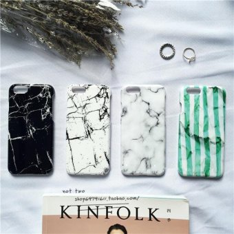 Harga Glossy mobile phone shell apple iphone5 s shell simple marble plus south korea stripe pattern protective shell cover