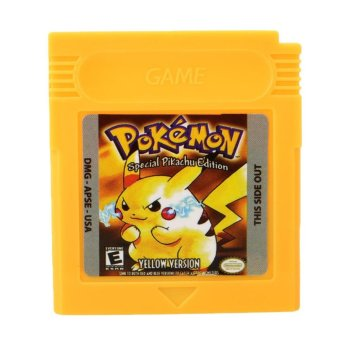 Harga Pokemon GBC Game Card Game Boy Advance GB GBC GBA SP Game Console Yellow Gifts - intl