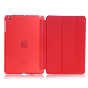 Harga New iPad 2017 iPad 9.7 inch / Ipad Air (ipad 5) case, Welink Ultra Slim Smart Cover PU Leather Case for Ipad Air (ipad 5) / New iPad 2017 iPad 9.7 inch (Red) - intl