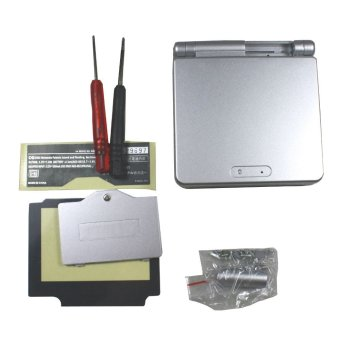 Harga Silver Full Housing Shell Case Cover Replacement for Nintendo GBA SP Gameboy Advance SP(Export) - Intl