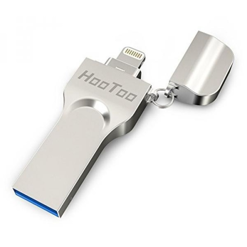 iPhone iPad Flash Drive 64GB USB emory Stick with Extended Lightning Connector for iPod iOS Windows Mac, HooToo External Storage Expansion - intl