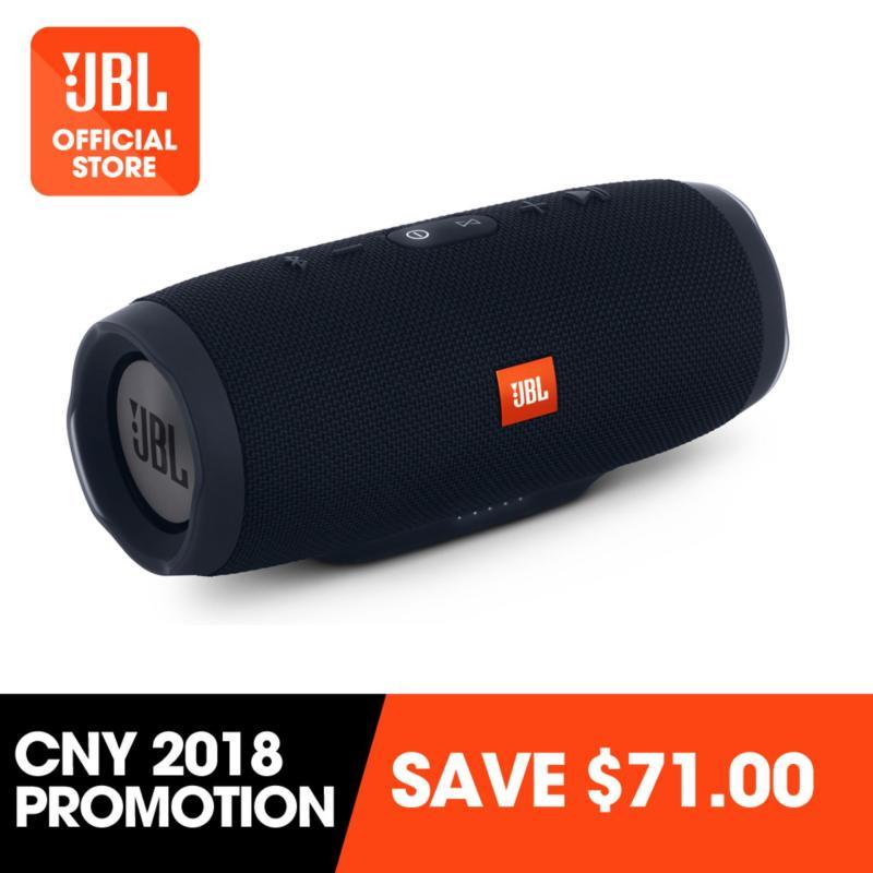 JBL Charge 3 portable Bluetooth speaker (black) #PROMO Singapore