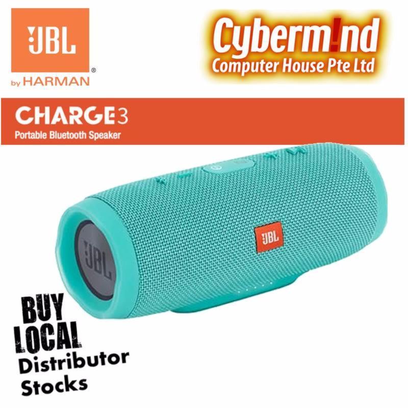 JBL Charge 3 Portable Waterproof Bluetooth Speaker (Teal) Singapore