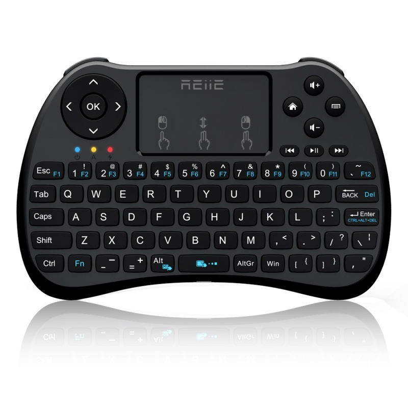 Kasdgaio Mini Keyboard Rii I8 2.4Ghz Wireless Qwerty English Keyboard with Touchpad for PC Android/Smart TV Box Laptop - intl Singapore
