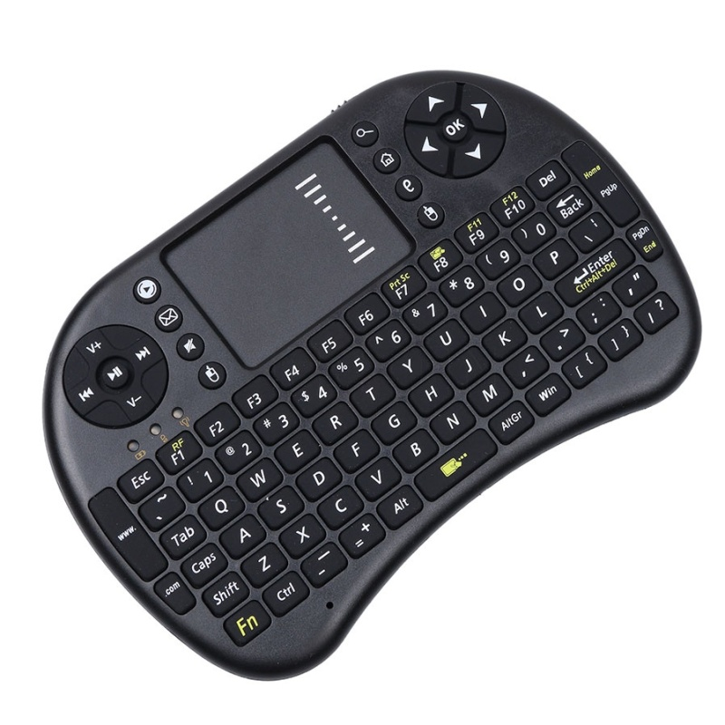 Kasdgaio Mini USB Wireless Keyboard 2.4ghz English Version Air Mouse Keyboard Touchpad Remote Control For Android Notebook Mini PC - intl Singapore