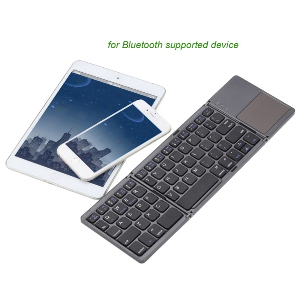 Kasdgaio Universal Mini Wireless Bluetooth 3.0 Folding Foldable Keyboard for IPhone 6s/iPad Pro/MacBook Mobile Phone Tablet PC - intl Singapore