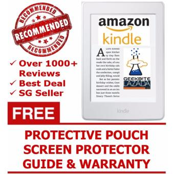 Latest Amazon Kindle Paperwhite 300 PPI + Kindle Protective Pouch + Screen Protector (USA/Special Offers) - White