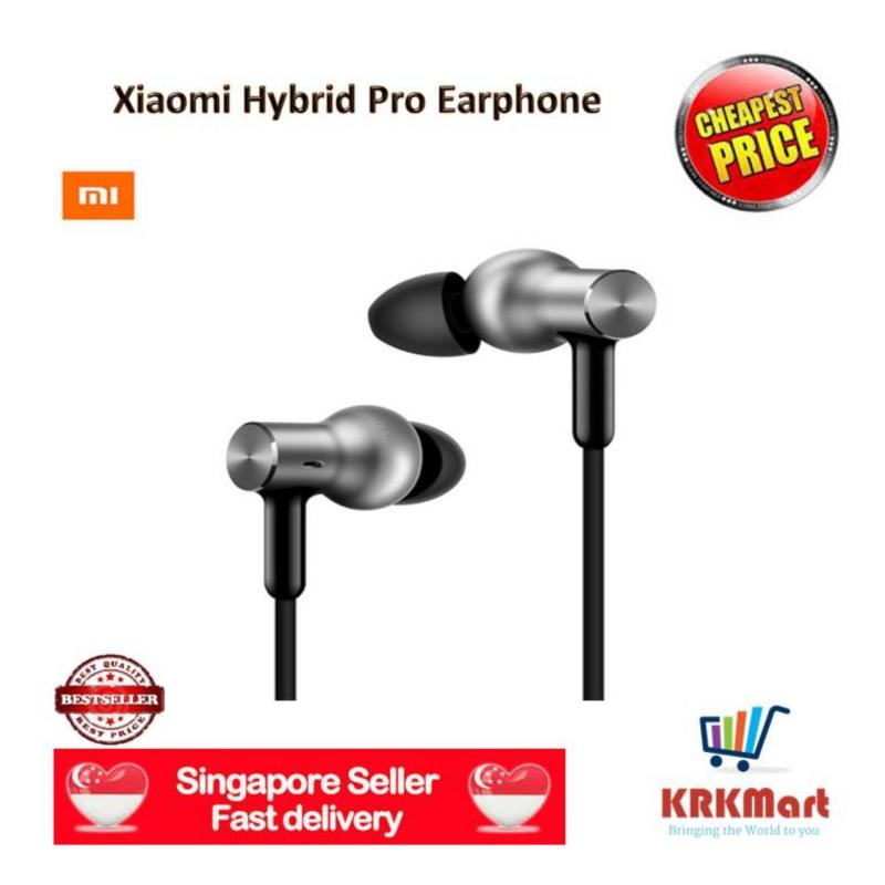 ♠ Local Seller ♠   Original Xiaomi Hybrid Pro Earphone with Multi Unit Circle Iron Mixed Wire Control Sport(Silver) Singapore