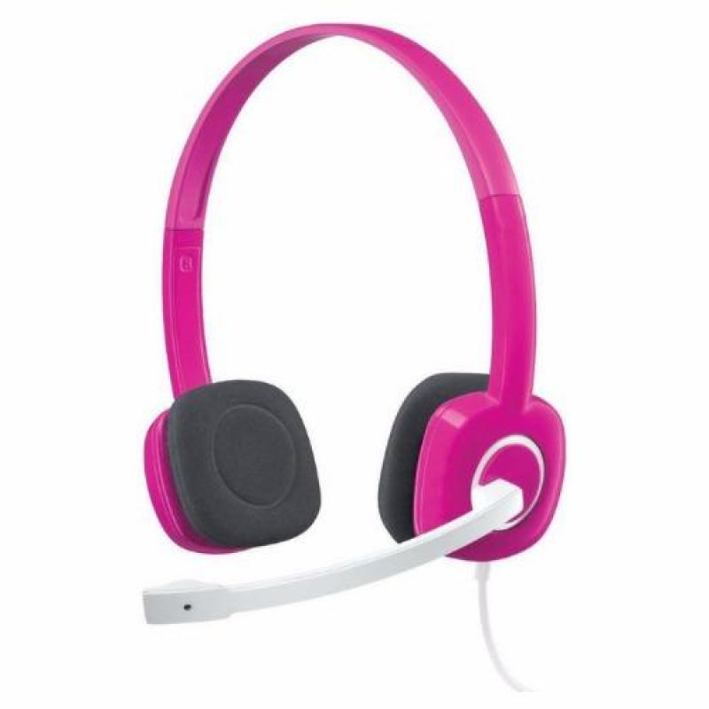 Logitech H150 Fuchsia Pink Stereo Headset Singapore