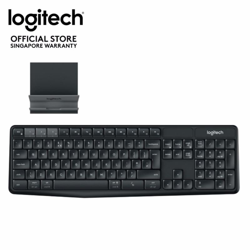 Logitech K375s Multi-Device Full Size Wireless and Bluetooth Keyboard and Stand Combo (iOS, Android, OSX, iPhone) Singapore