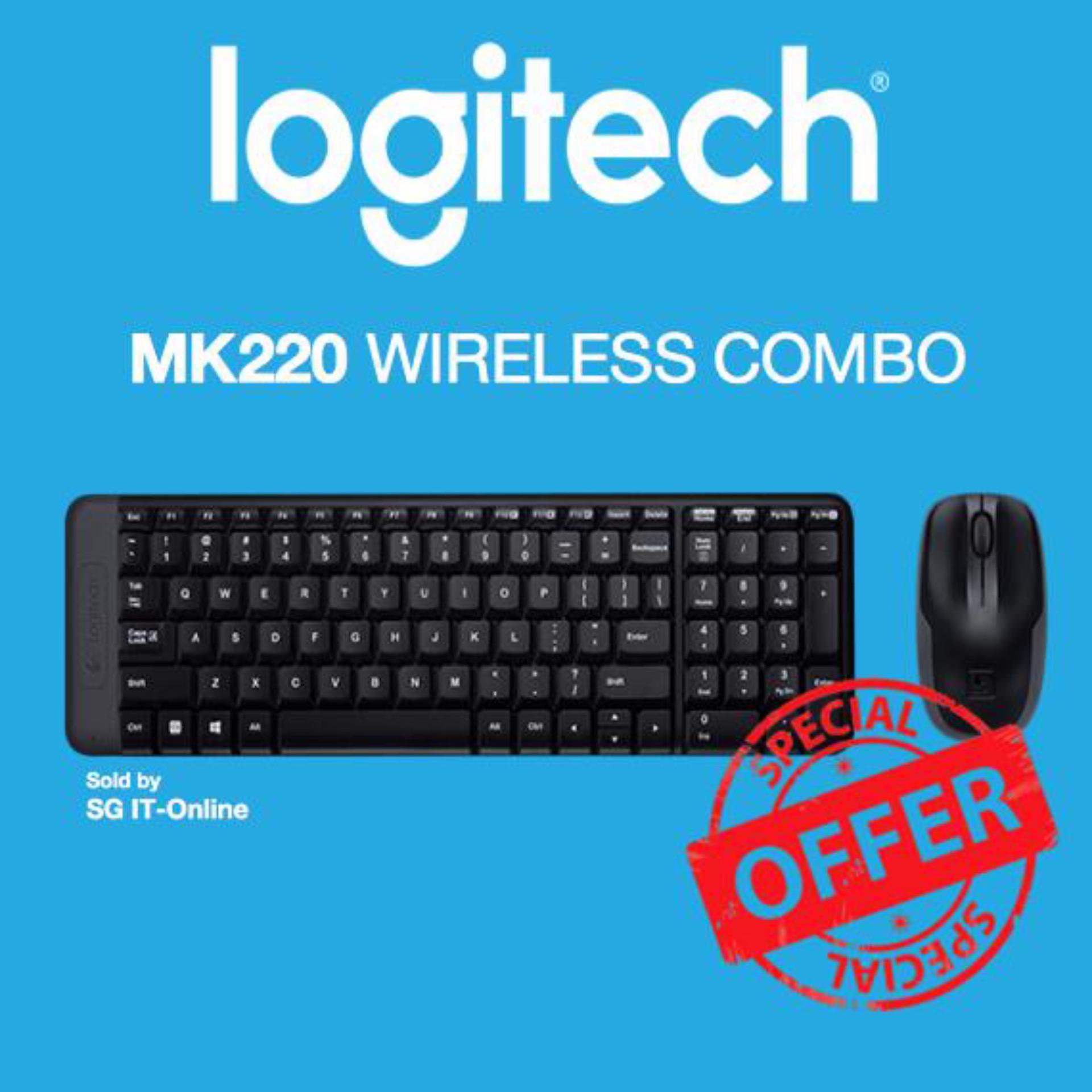 Logitech Wireless Combo Mk220 Singapore Keyboard Mouse