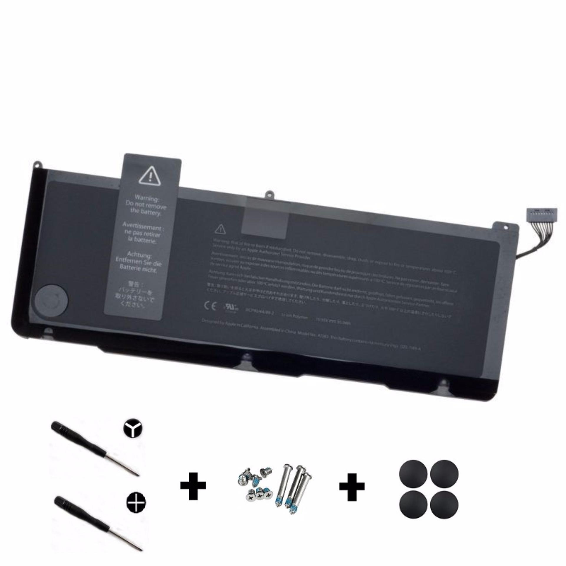 MacBook Pro 17-inch (Early 2011, Late 2011) Battery (A1383) + Pack Rubber Case Feet with Screws + Screwdriver
