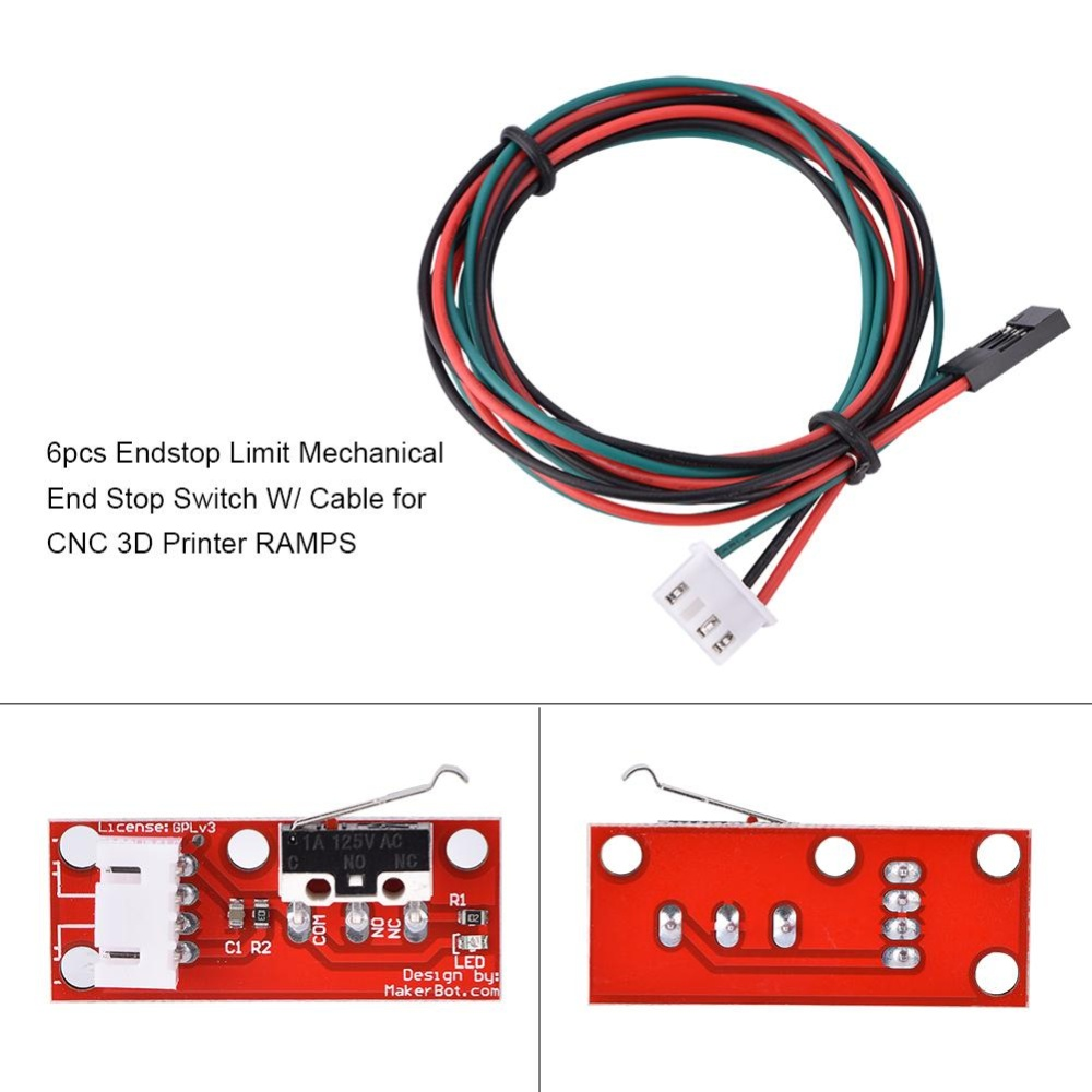 Mechanical Endstop Limit Switch Accessories Kits With Cable For 3d Ramps 14 Printer Intl Singapore