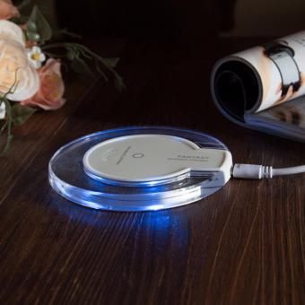Mini Fantasy Transparent Disk Qi Wireless Charging Pad Plate