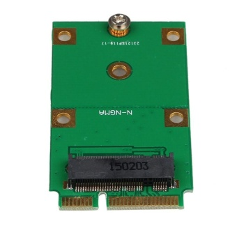 Mini PCI-E 2 Lane M.2 NGFF 30mm 42mm SSD To 52pin mSATA Adapter Card - intl - 2