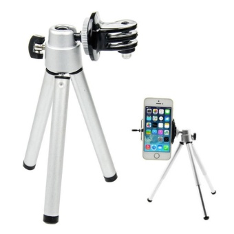 Mini Portable Aluminum Alloy Tripod Camera Accessory for GoProPhone - intl - 3