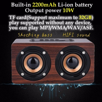 misodiko Portable Bluetooth Wooden Speaker with Microphone - intl - 3