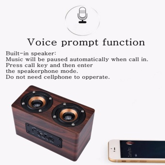 misodiko Portable Bluetooth Wooden Speaker with Microphone - intl - 4