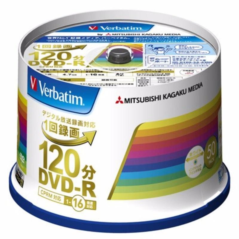 Mitsubishi Chemical Media Verbatim 1 time Recording DVD-R (CPRM) VHR 12 JP 50 V 4 (one side single layer / 1-16 times / 50 sheets) - intl