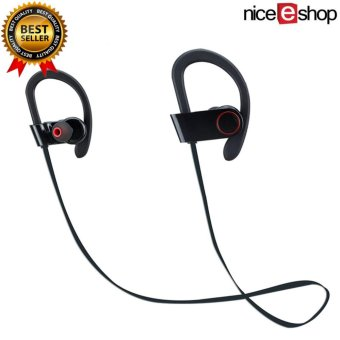 niceEshop Bluetooth Earbuds, OXoqo in Ear Sport Headphones Best with Mic Wireless Earphones IPX4 Sweatproof Fitness Stereo Ear Phones Gym Running Exercise Workout Headset for IPad IPhone Android Phone(Black)