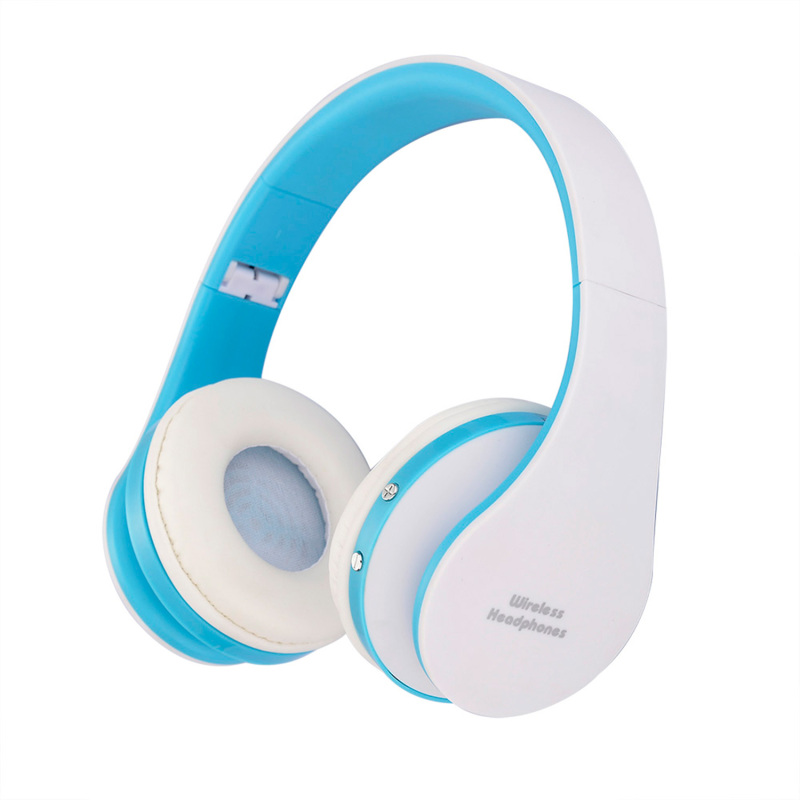 niceEshop Wireless Bluetooth Foldable Stereo Headset (Blue/White)(Export) Singapore