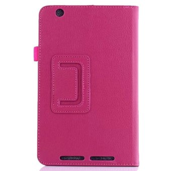 PU Leather Cover Case for Acer Iconia One 8 B1-810 Magenta - 2