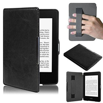 PU Leather Folio Case Cover For Amazon Kindle Paperwhite (Black)