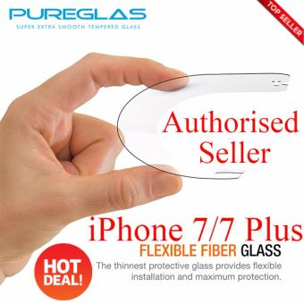 PureGlas Tempered Glass 0.3mm iPhone 7 (White Full Coverage) - 2