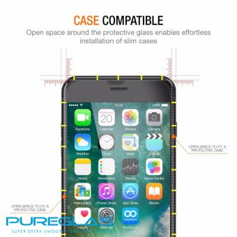 PureGlas Tempered Glass 0.3mm iPhone 7 (White Full Coverage) - 3