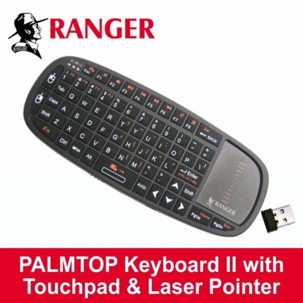 Ranger Wireless Palmtop Keyboard II For Smart TVs, TV Boxes, XBox, PS4 and PC Devices with Laser Pointing facility Singapore