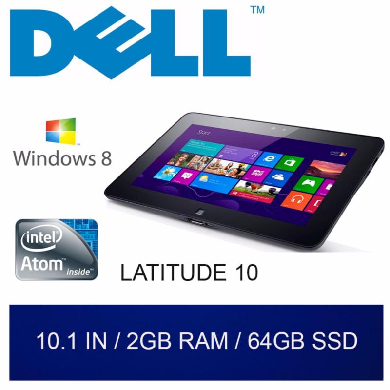 Refurbished Dell Latitude 10 Tablet / 10.1in / Atom / 2GB RAM / 64GB SSD / Windows 8 / 1 month Warranty