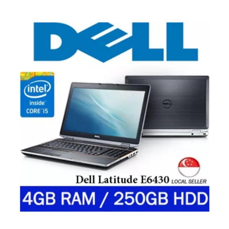 [Refurbished] Dell Latitude E6430 Intel i5 Core 3rd Gen 4GB RAM 250GB HDD Windows 7 Pro Laptop (Black)